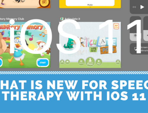 What is new for speech therapists in iOS 11?